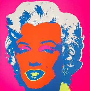 Andy Warhol After - Marilyn (Orange/Pink)
