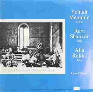 Yehudi Menuhin Ravi Shankar Alla Rakha - Recording for