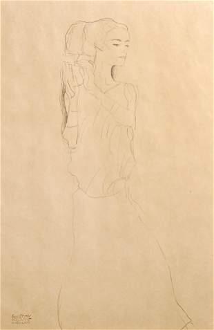 Gustav Klimt (After) - Woman in Gown