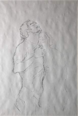 Gustav Klimt (After) - Mann Und Frau