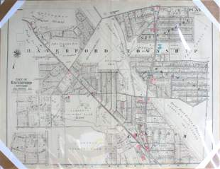 Vintage Poster - Haverford Township Map