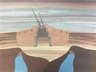 Amado M. Pena Jr. - Untitled (Native Southwestern