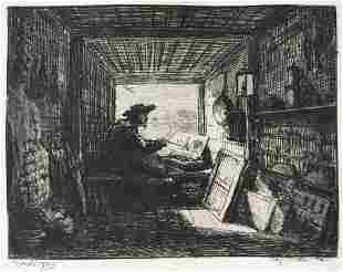Charles Daubigny - Daubigny in His Cabin