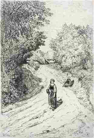 Theophile Chauvel - A Country Lane