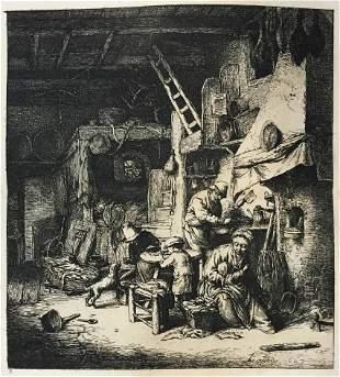 Adriaen van Ostades (After) - La Famille