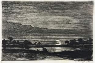 Auguste-Marie Delatre - Moonrise