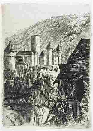 Philip Gilbert Hamerton - The Towers of Autun