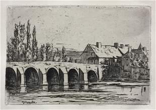 Philip Gilbert Hamerton - Bridge of Toulon sur Arroux