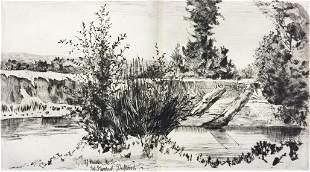 Philip Gilbert Hamerton - Two Stumps of Driftwood