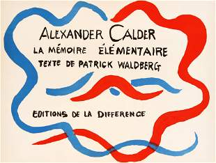 Alexander Calder - Le Memoire Elementaire Title Sheet