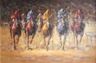 Unknown Artist - Untitled (Horserace)