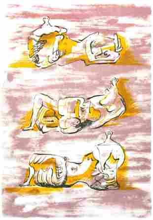 Henry Moore - Three Reclining Figures