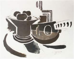 Georges Braque - Le Mandoline