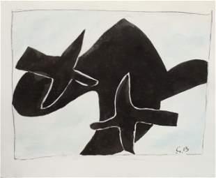 Georges Braque - Les Oiseaux Noirs