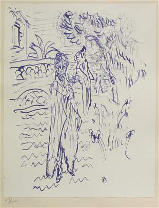 Pierre Bonnard (After) - Untitled (Woman with a Bird)