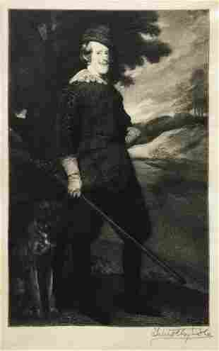 Timothy Cole (Afer Velazquez) - Philip IV as a Hunter