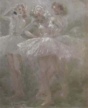 Louis Icart - The Three Ballerinas