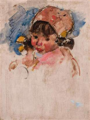 Martha Walter - Girl with Pink Bonnet
