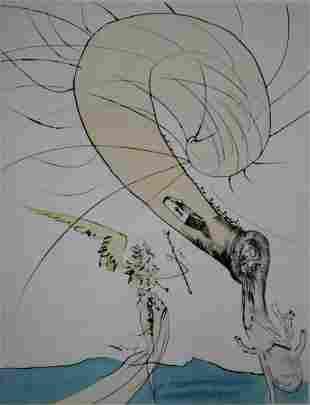 Salvador Dali - Freud with Snail-Head