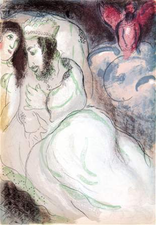 Marc Chagall - Sarah and Abimelech