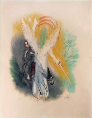 """Reuven Rubin - Untitled from """" Visions of the Bible"""""""