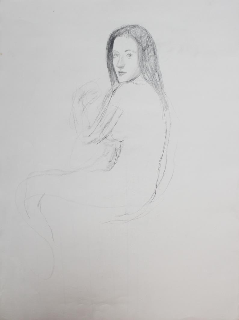 Bo Bartlett - Untitled Figure Study I