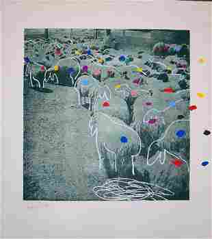 Menashe Kadishman - Sheep 5
