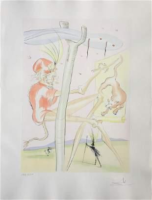 Salvador Dali - Le Singe et le Leopard