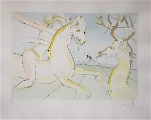 Salvador Dali - Le Cavalier et le Cerf