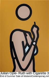 Julian Opie - Ruth with cigarette 3
