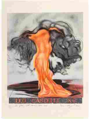 James Rosenquist - The Flame Still Dances on Leos Book