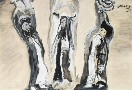 Emmanuel Mane-Katz - Untitled (Three Rabbis)