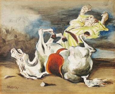 William Gropper - Untitled (Man with Horse)