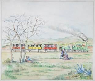 Georges Henri Manzana Pissarro - Untitled Landscape