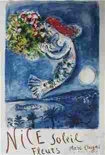 Marc Chagall - Nice Soleil Fleurs