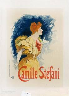 """Jules Cheret - """"Camille Stefani"""" Vintage Poster"""