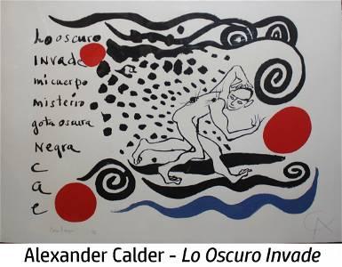 Alexander Calder - Lo Oscuro Invade