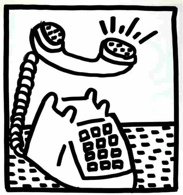 Keith Haring - Untitled (Phone Call)