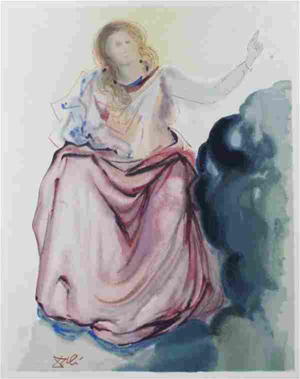 Salvador Dali - Beatrice Resolves Dante's Doubts