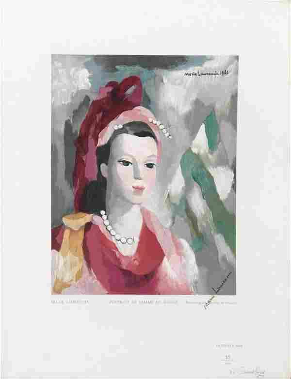 Marie Laurencin - Portrait de Femme en Rouge