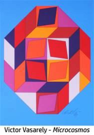 Victor Vasarely - Microcosmos (Orange)