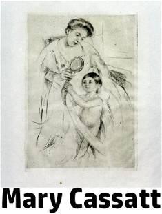 Mary Cassatt - Looking into the Hand Mirror