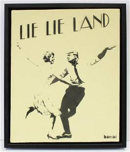 BAMBI Street Artist - Lie Lie Land (Yellow)