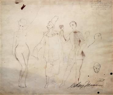 Leroy Neiman - Original Pencil Drawing