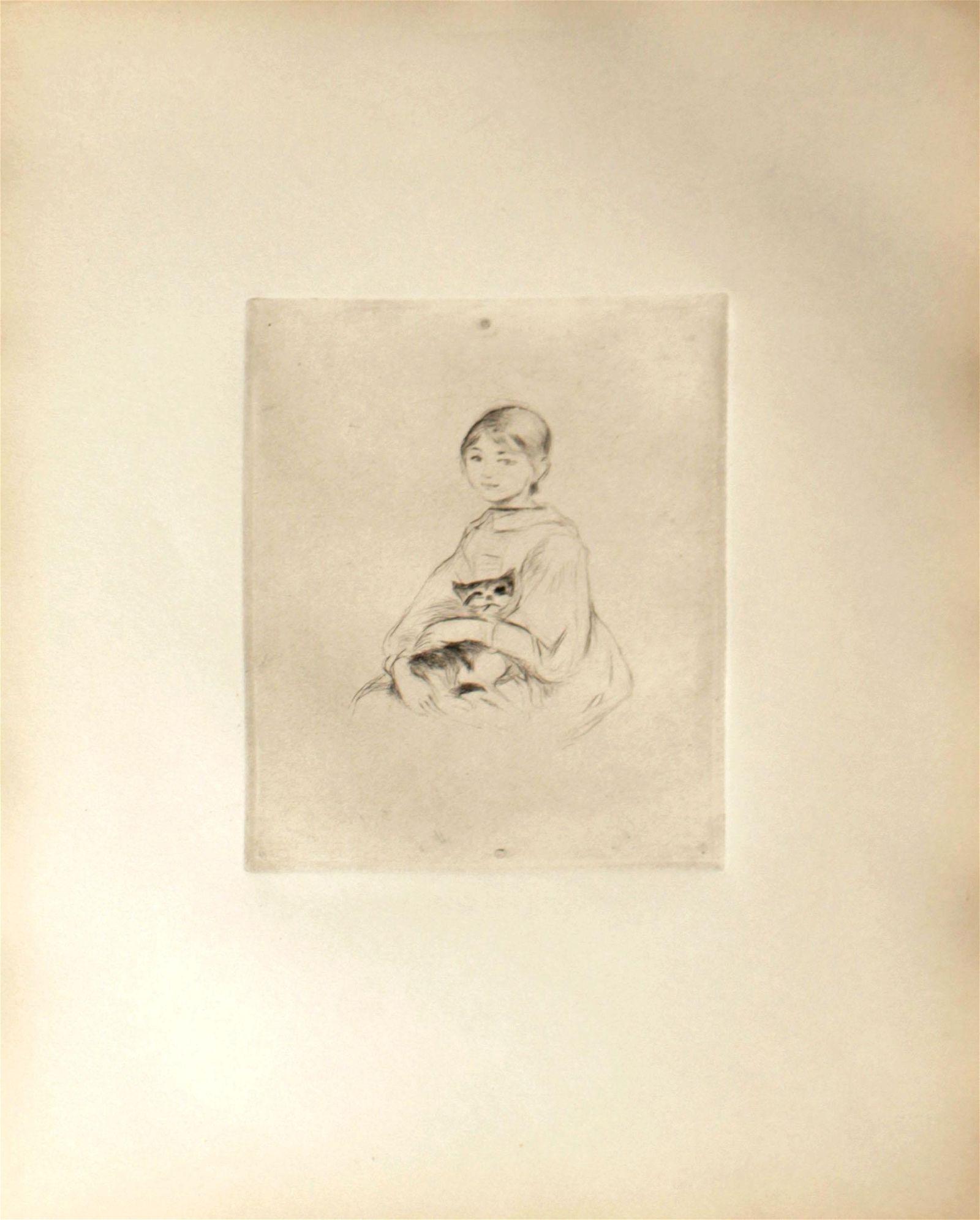 Berthe Morisot - Fillette au Chat