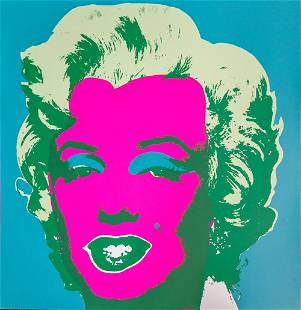 Andy Warhol After - Marilyn (Blue/Pink)