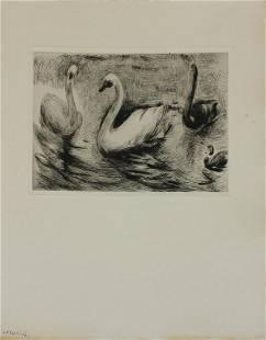 Berthe Morisot - Untitled (Swans)