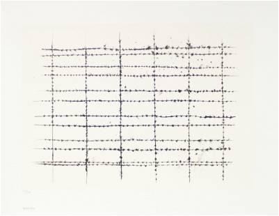 Donald Sultan - Barbed Wire