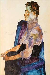 Egon Schiele (After) - Bildnis des Malers Anton Peschka