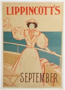 Will Carqueville - Lippincott's Vintage Poster
